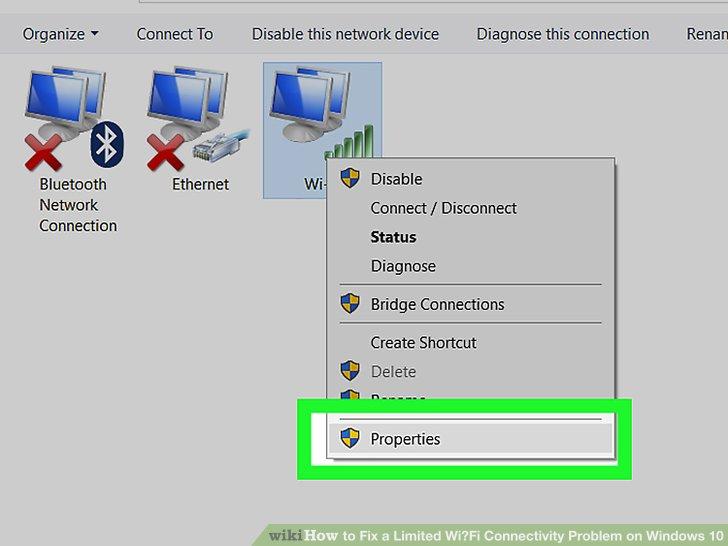 رفع مشکل اتصال محدود Wi-Fi در ویندوز 10