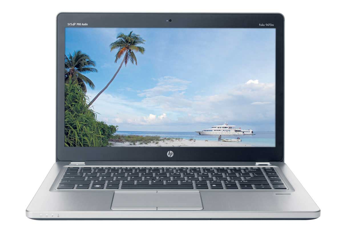 نمای روبروی لپ تاپ HP-Folio-9470M